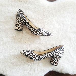 NWT Marc Fisher Zalaly Cheetah Block Heel Pumps